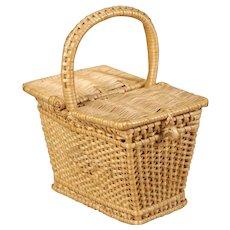 French Wicker Picnic Basket