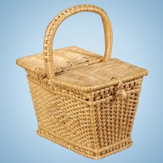 French Wicker Picnic Basket