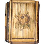 Book-form Box in Straw Marquetry