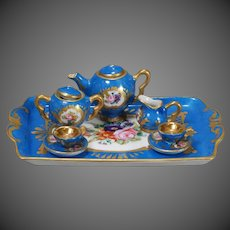French Porcelain Tea Service for Fashion Dolls