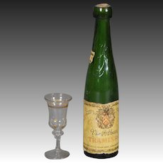 Wine Bottle and Glass for Fashion Dolls