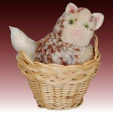 Steiff Cat in a Basket