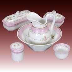 French Porcelain Toilette Set
