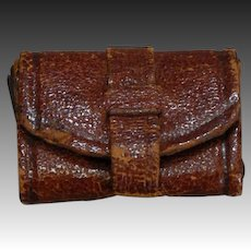 Petite Leather Fashion Doll Calling Card Case