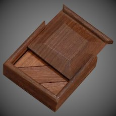 Boxed Puzzle in Mahogany Doll Size