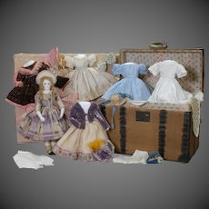 Maison Rohmer French Fashion Doll with Clothing & Trunk