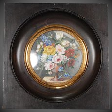 Doll Size Original Floral Painting