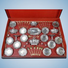 Boxed Metal Doll's Dinner Service