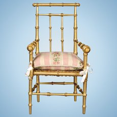 French Faux Bamboo Doll Chair
