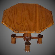French Faux Bamboo Octagonal Table