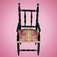 French Ebonized Armchair