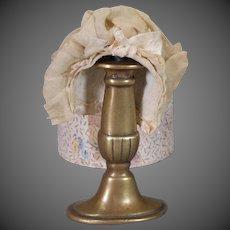 Antique Doll Bonnet in Original Hat Box