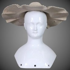 Doll Hat in Taupe Wool Felt