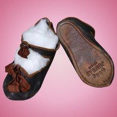Leather Jumeau Doll Shoes Size 13