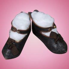 Jumeau Doll Shoes Size 12 PARIS DEPOSE