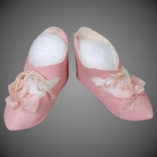 Classic Bebe Doll Shoes in Pink Oilcloth