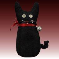 Folk Art Style Cloth Kitty