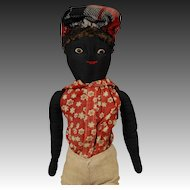One-of-a-kind Black Cloth Child Doll