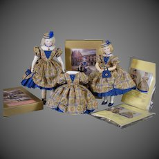 """Palais Royale"" authentic Huret design sewing kit by Louise Hedrick 17-18"" size"