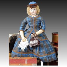 """Coming to America"" Enfantine Style Ensemble Sewing Pattern, based upon an authentic Huret design, by Louise Hedrick, for 14.5"" Doll"