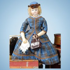 """""""Coming to America"""" Enfantine Style Ensemble Sewing Pattern, based upon an authentic Huret design, by Louise Hedrick, for 14.5"""" Doll"""
