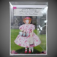 """""""Jardin du Luxembourg"""" Sewing Kit by Denise Buese to fit Huret dolls (14-15"""" in height)"""