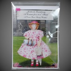 """Jardin du Luxembourg"" Sewing Kit by Denise Buese to fit Huret dolls (14-15"" in height)"