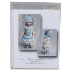 """Classic Jumeau Ensemble Sewing Kit by Sheryl Williams to fit 13"""" French Bébé"""
