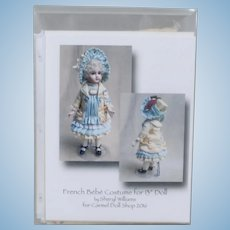 "Classic Jumeau Ensemble Sewing Kit by Sheryl Williams to fit 13"" French Bébé"