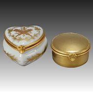 Two French Porcelain Patch Boxes from Limoges