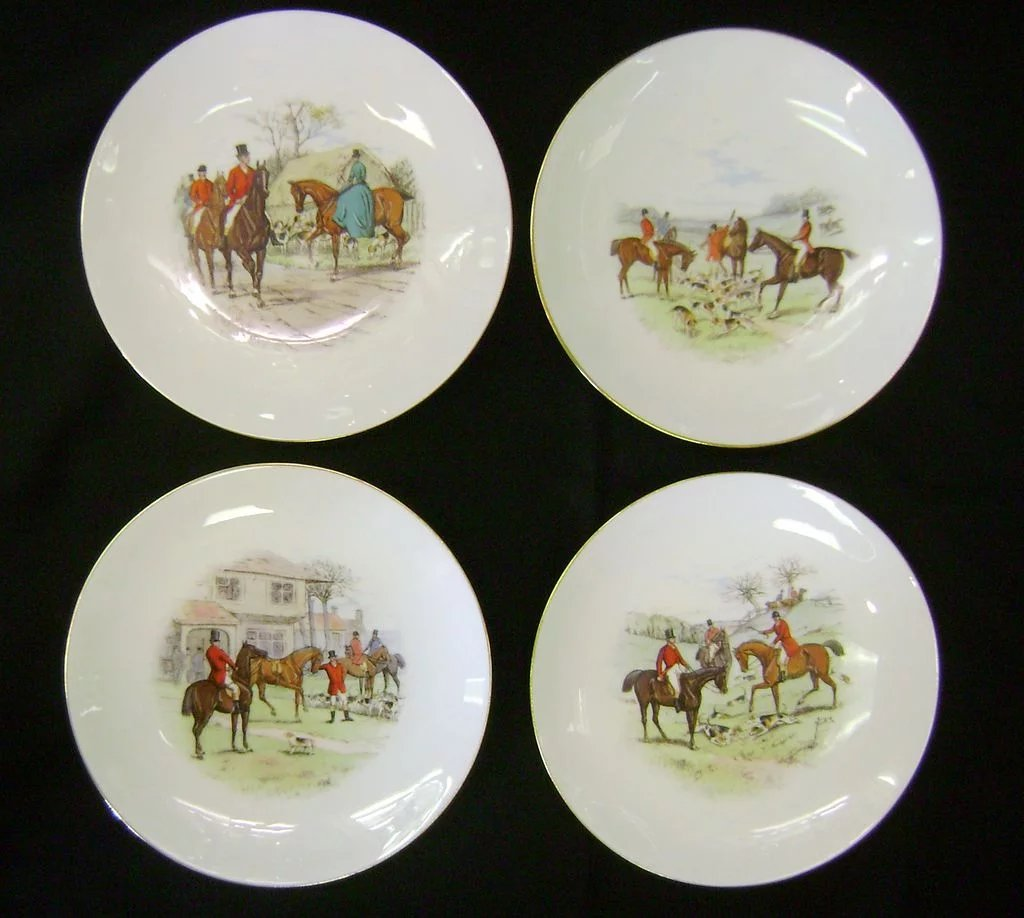 Click to expand & Eight 9 inch Minton Hunting plates SOLD | Ruby Lane
