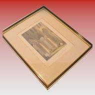 Vintage Hablot Browne Framed Etching