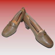 Vintage Saks Fifth Avenue Khaki Brown Loafer
