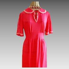 Vintage Seamprafe Lounging Dress Circa 1940's