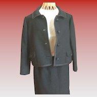 Vintage Ben Zuckerman Black 2-Piece Suit