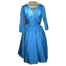 Vintage Taffeta Party Dress Circa 1960's