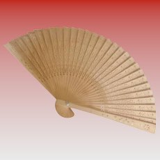 Vintage Wooden Fan Intricately Carved