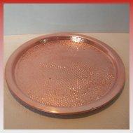 Round Copper Craft Guild Tray