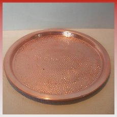 Round Copper Craft Guild Tray