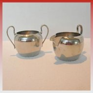 Cream and Sugar Set Made in Occupied Japan