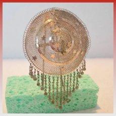 Vintage North African Metal Hair Ornament