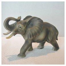 Ceramic African Elephant Figurine