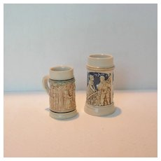 Two Vintage Miniature Steins