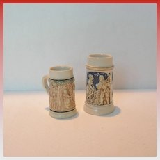 Two Vintage Miniature Steins