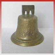 Vintage Mexican Virgin Mary Bronze Bell