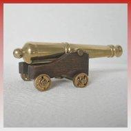 Vintage Miniature Brass Cannon