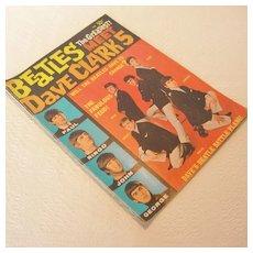 Vintage The Beatles Meet Dave Clark 5 Magazine, 1964