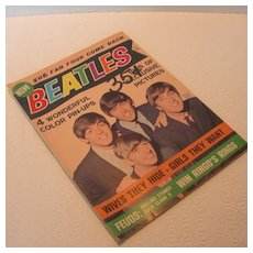 """Vintage The Beatles """"The Fab Four Come Back"""" Magazine - Red Tag Sale Item"""