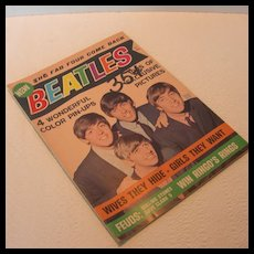 "Vintage The Beatles ""The Fab Four Come Back"" Magazine - Red Tag Sale Item"