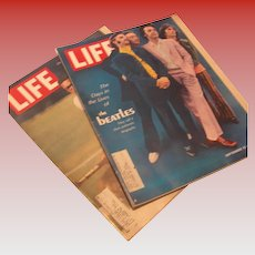 Two Vintage Life Magazines Featuring The Beatles 1968
